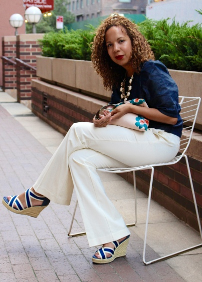 Banana Republic clutch, Gap sandals