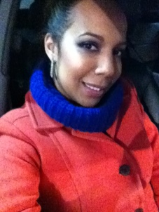 Blue Sweater, Orange Coat