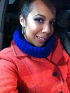 Blue Sweater, Orange Coat